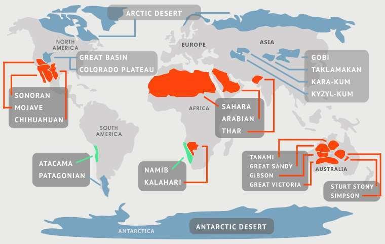 Největší pouště na světě