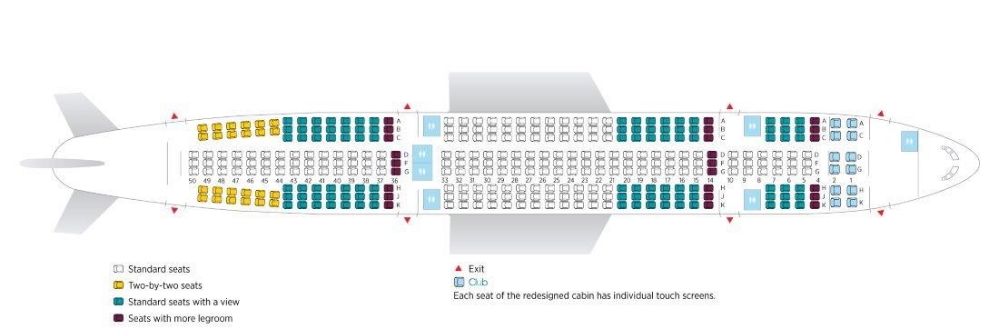 Plán sedadel Airbus A330