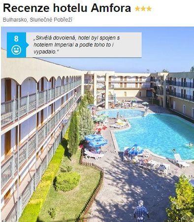 Recenze hotelu Amfora Bulharsko