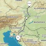 Cesta do Chorvatska přes Maďarsko cesta
