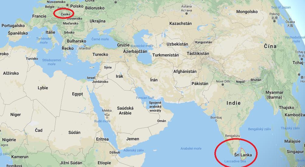 Kde leží Srí Lanka a poloha