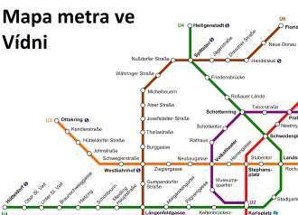 Metro Ve Vidni Mapa Pdf Plan Cena Jizdneho