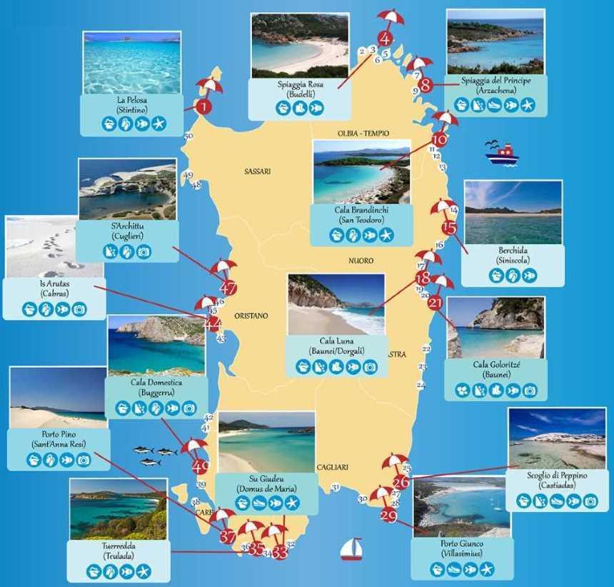 Nejlepší pláže na Sardinii