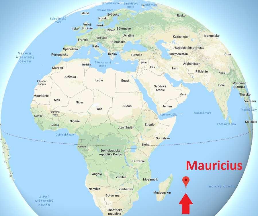 Poloha Mauriciu aneb kde leží na mapě