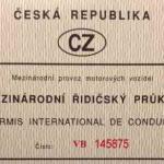 Mezinárodní řidičský průkaz 1