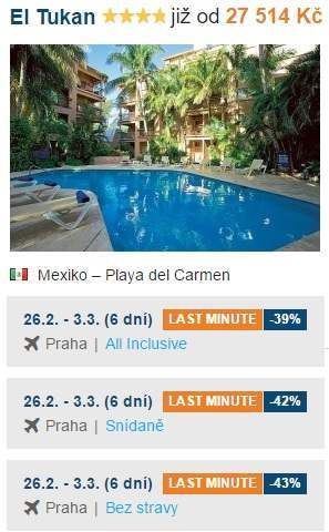 Nejlevnější dovolená v Mexiku