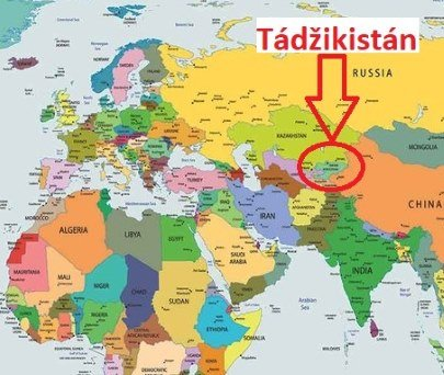 Poloha Tádžikistánu na mapě