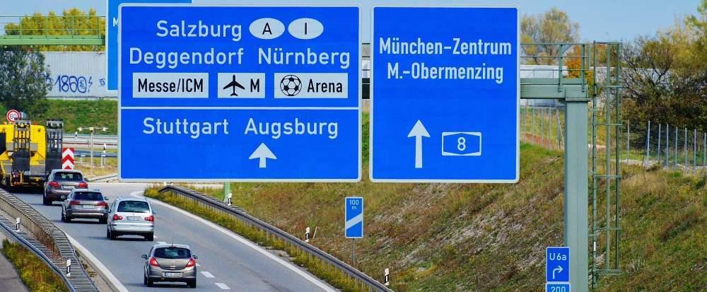 Dálnice známka Německo