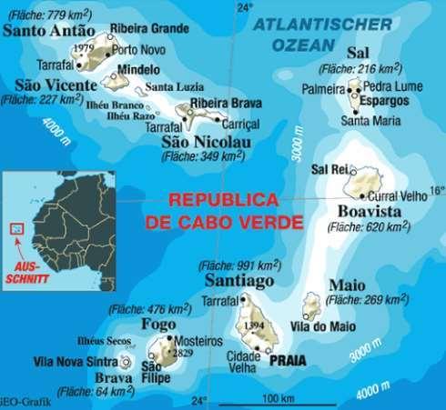 Mapa Kapverdy