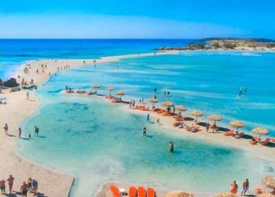 Pláž Elafonisi na Krétě