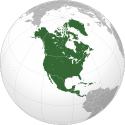 Mapa severní ameriky