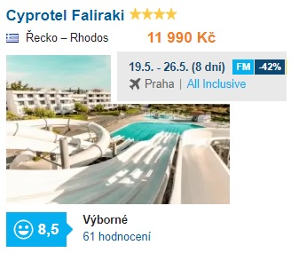 Nejlepší a nejlevnější hotely v Řecku