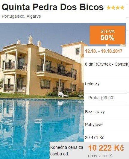 Portugalsko Algarve dovolená