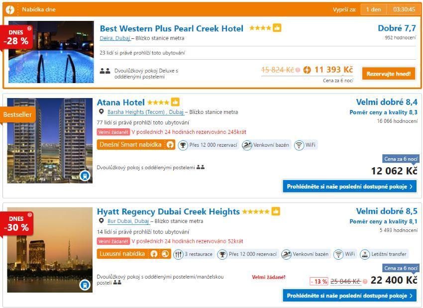 Akční ubytování v Dubaji