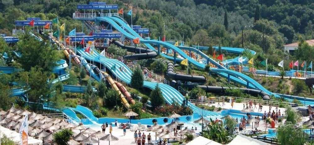 Aqualand na řeckém ostrově Korfu