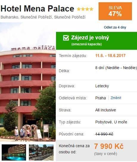 Dovolená Bulharsko slunečné pobřeží