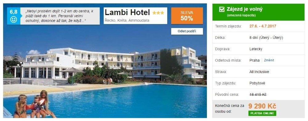 Dovolená na Krétě hotel Lambi