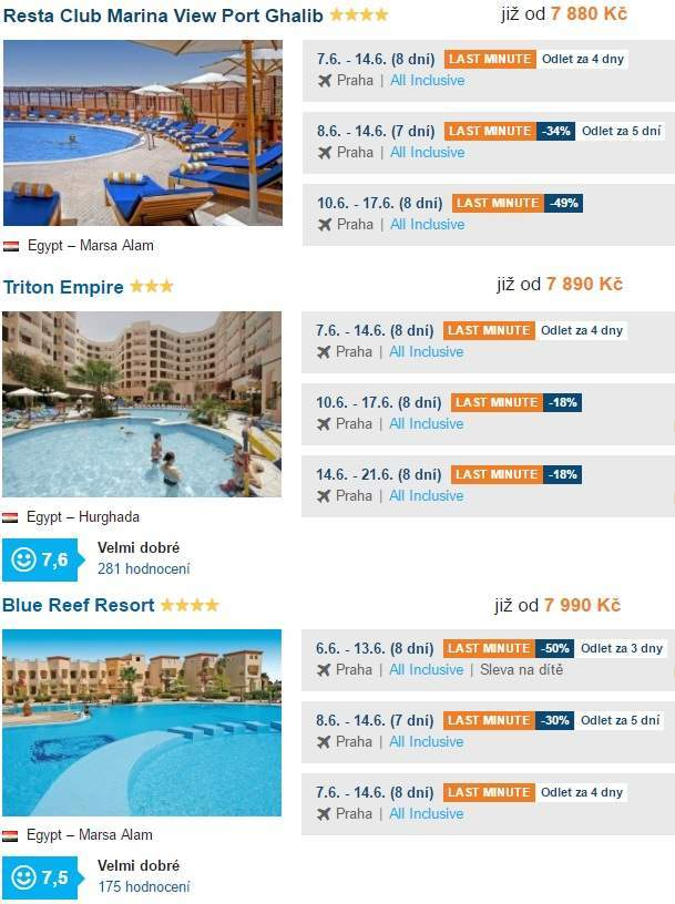 Egypt All inclusive last minute