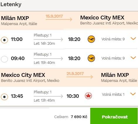Letenky do Mexika dovolená