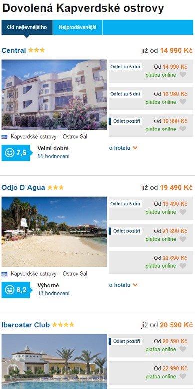 Nejlevnější dovolená Kapverdské ostrovy 1
