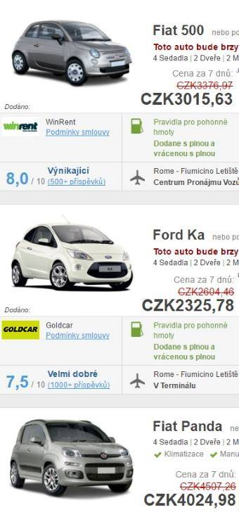 Půjčení auta Madeira