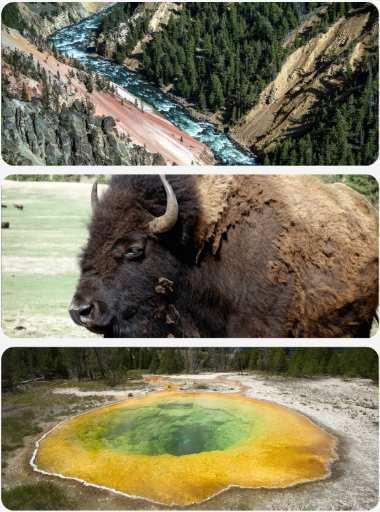 Yellowston národní park USA