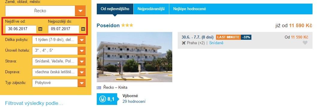 Zájezdy na státní svátky 5 a 6 cervence řecko
