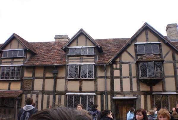 Rodný dum Shakespeara ve Stratfordu