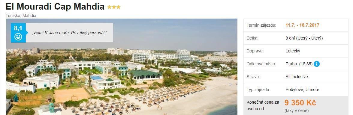 El Mouradi Cap Tunisko