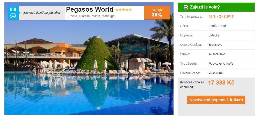 Pegasos World v Turecku tobogány
