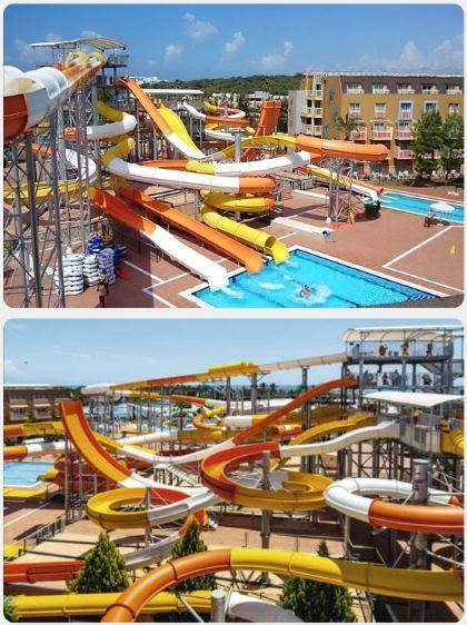 Turecko dovolená aquapark tobogány