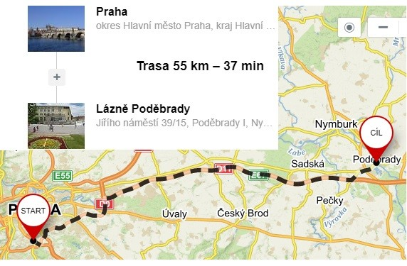 Doprava z Prahy do Poděbrad