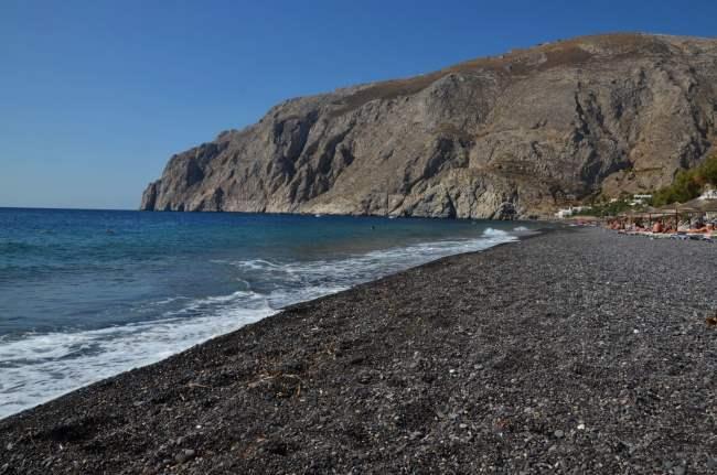 Plaz Kamari a panorama moře