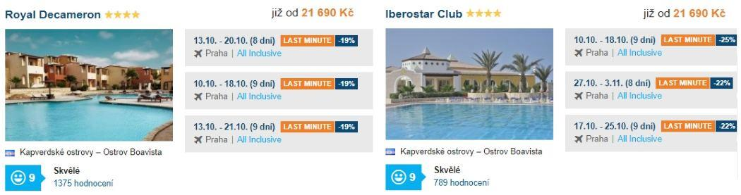 2 nejlepší hotely Kapverdy boavista