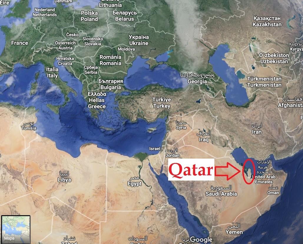 Katar Mapa Kde Je Lezi Katar Na Mape