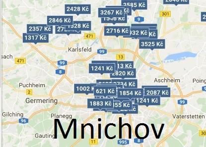 Levné ubytování Mnichov