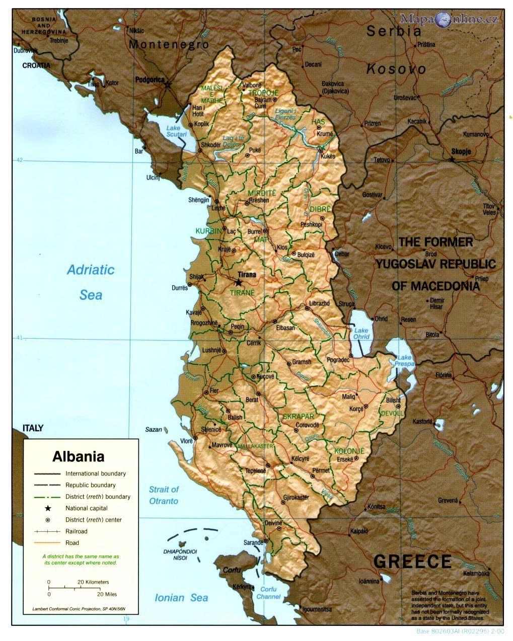 Albanie Mapa Mapy Ke Stazeni Pdf Na Mape