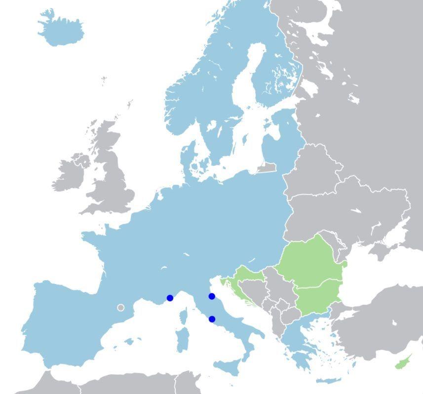 Schengenský prostor na mapě