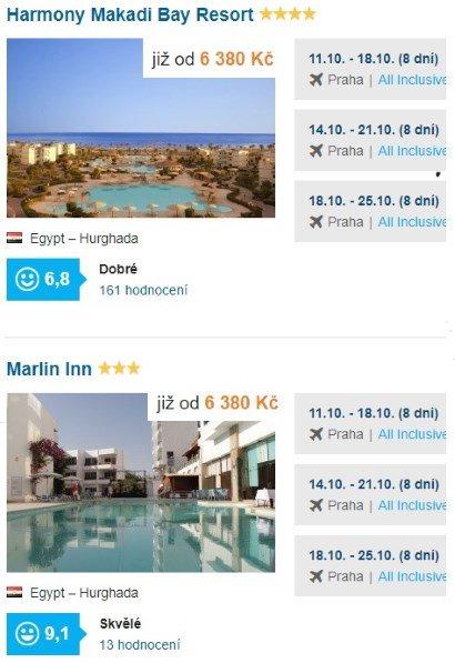 All Inclusvie dovolená levně egypt hurhgada