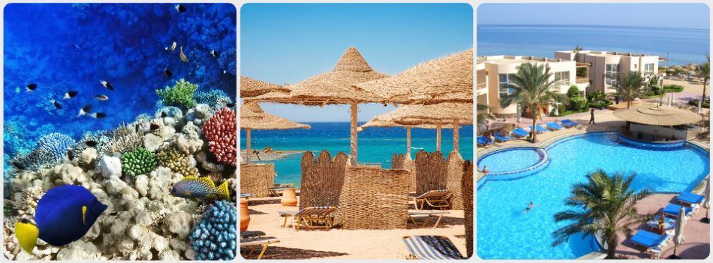 Egypt moře hotel pláž