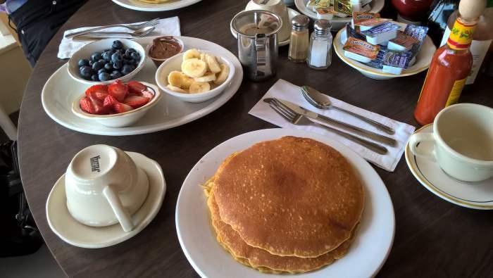 Klasická Americká snídaně v restauraci