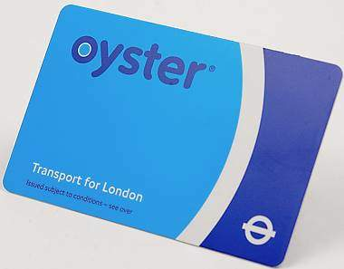Oyster card v Londýně