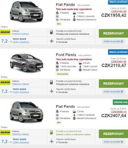 Půjčení auta Kanárské ostrovy