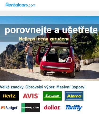 Půjčení auta v zahraničí rentalcars