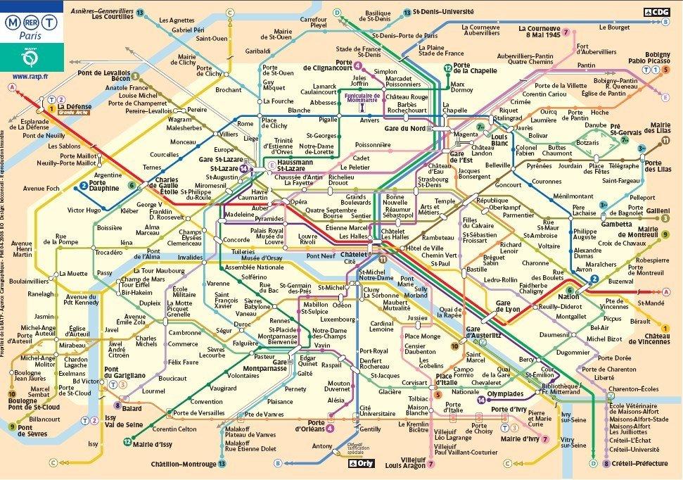 Mapa Parize Ke Stazeni Turisticka Metro Pamatky
