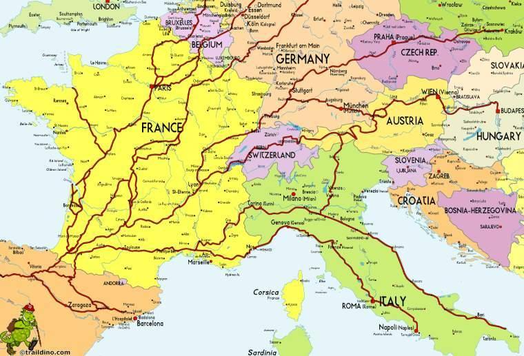 Portugalská cesta z Evropy