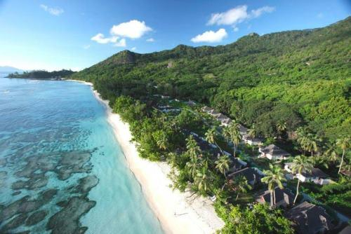 Výhled na moře na Seychellách