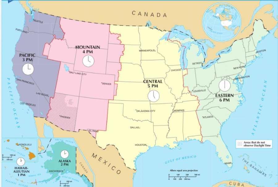Aktuální čas v USA Americe
