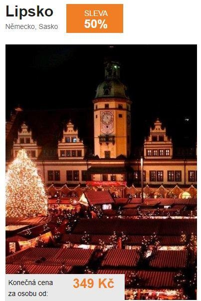 Vánoční trhy Lipsko adventní
