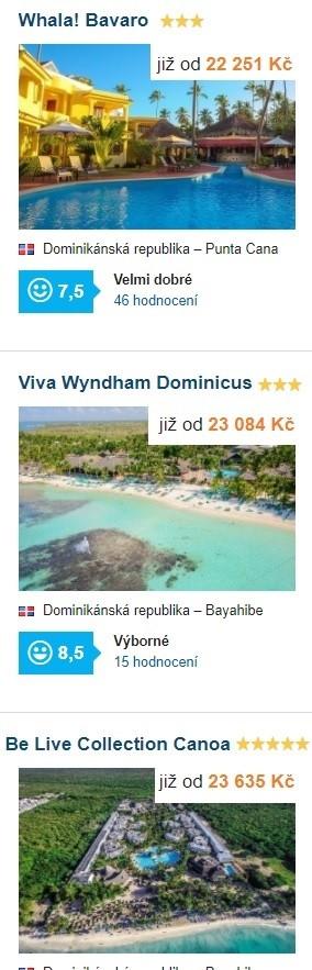 Dominikánská republika first minute dovolená Karibik